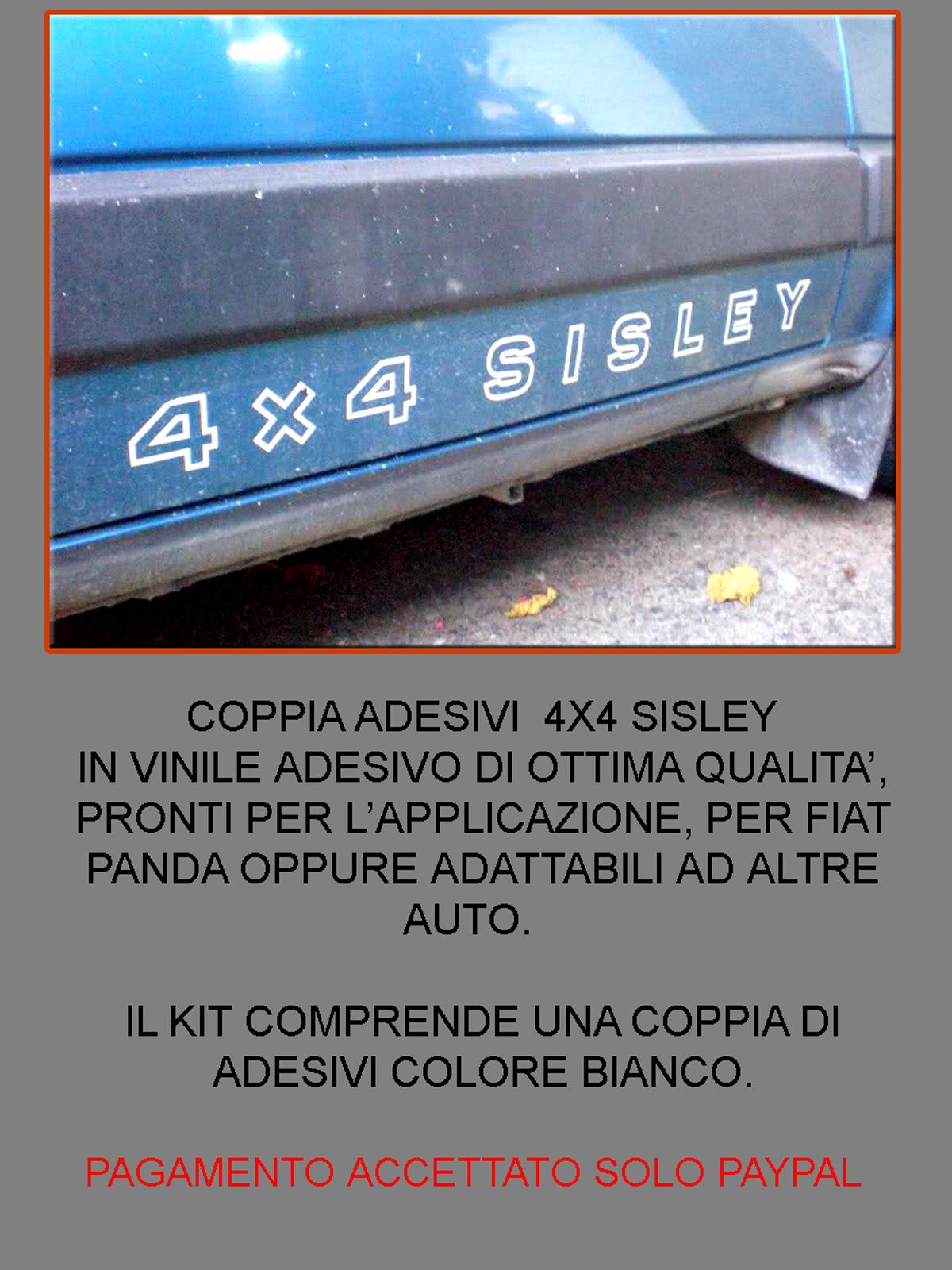 FIAT PANDA 4X4 ADESIVI SISLEY