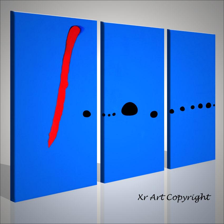 Joan miro blu quadro astratto stampa quadri bilder moderni for Quadri trittici moderni