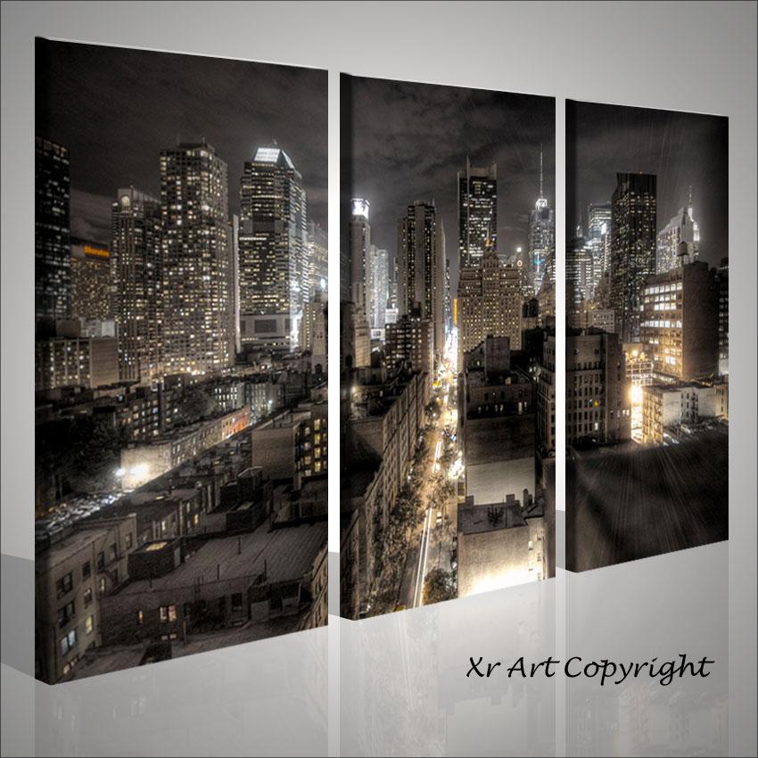 quadri moderni citta 39 medietone new york city arredamento