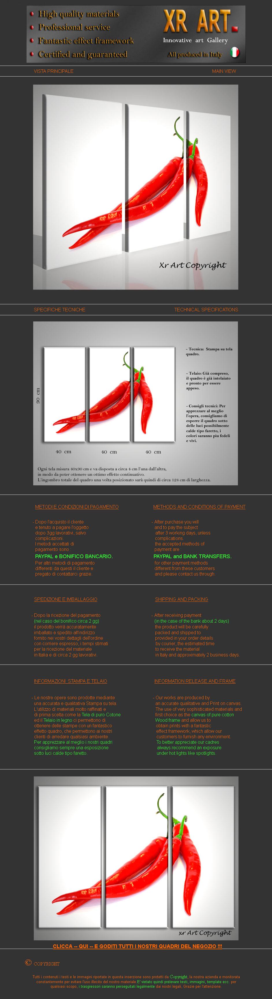 Quadro moderno peperoncino quadri moderni arredamento etnico ...