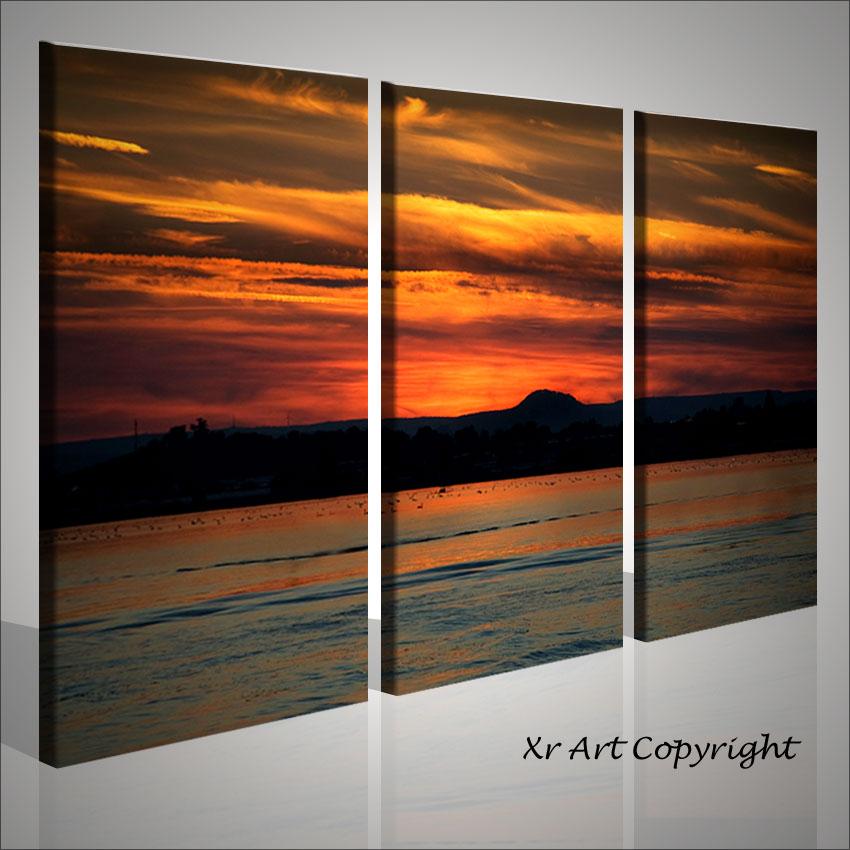 Quadro moderno vulkan air quadri paesaggi tramonto arte for Quadri arte moderna