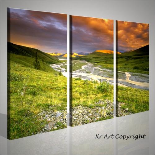 Quadri moderni montagne tramonto quadri moderni for Stampe da parete